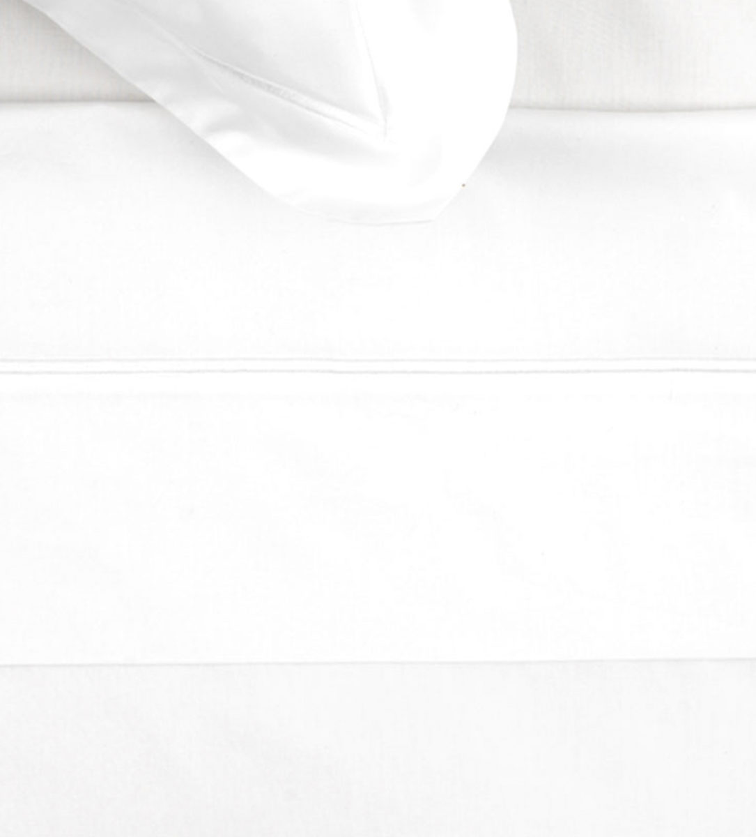 White Cotton Percale Flat Sheet 200 Thread Count