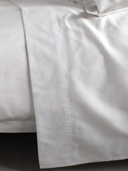 600 Thread Count Antique White Luxury Flat Sheet