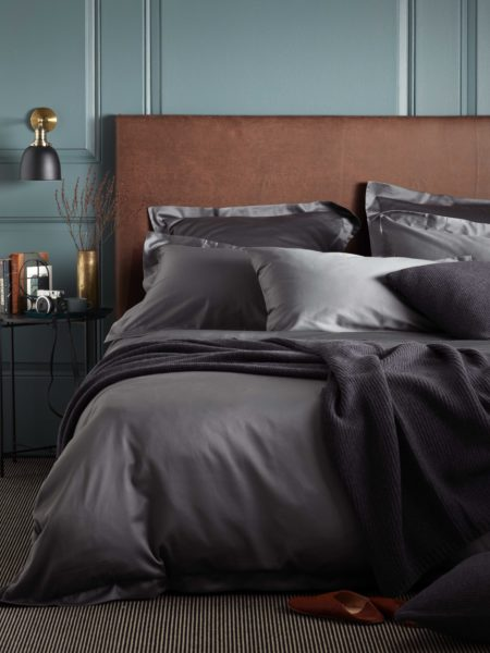 600 Thread Count Charcoal Grey Luxury Bed Linen