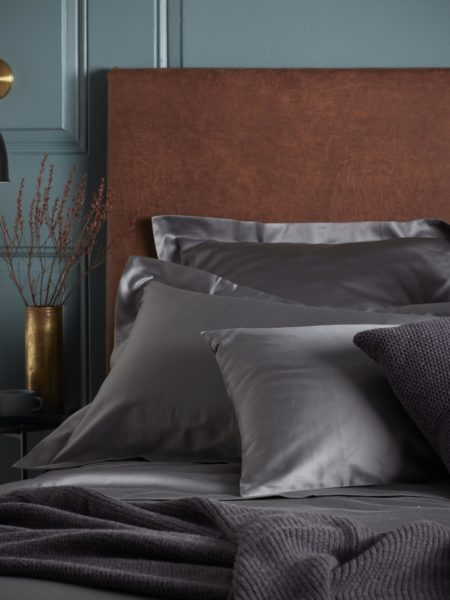 600 Thread Count Charcoal Grey Luxury Oxford Pillowcase