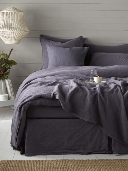 Aubergine Purple 100% Linen Duvet Cover