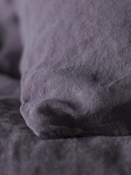 Aubergine Purple 100% Linen Pillowcase