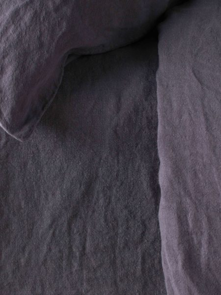 Aubergine Purple 100% Linen Bed Sheets