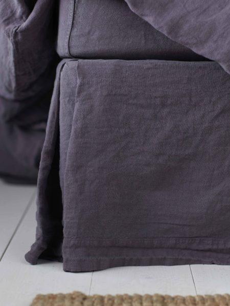 Aubergine Purple 100% Linen Valance