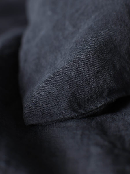 Black 100% Linen Pillowcase