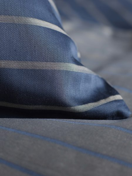 Breton Stripe Midnight Blue Pillowcase