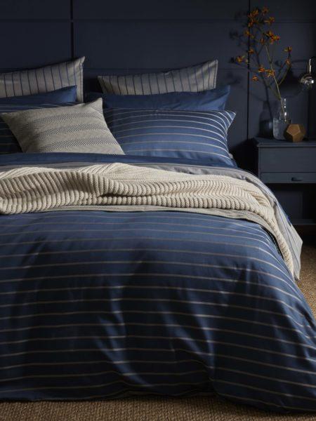 Breton Stripe Midnight Blue Bed Linen