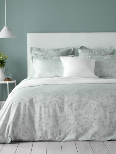 Butterfly Duck Egg Bed Linen