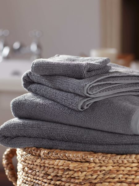 Charcoal Cotton Towels