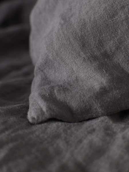 Charcoal 100% Linen Pillowcase