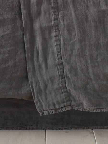 Charcoal 100% Linen Flat Sheet