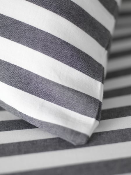 Coastal Stripe Charcoal Pillowcase