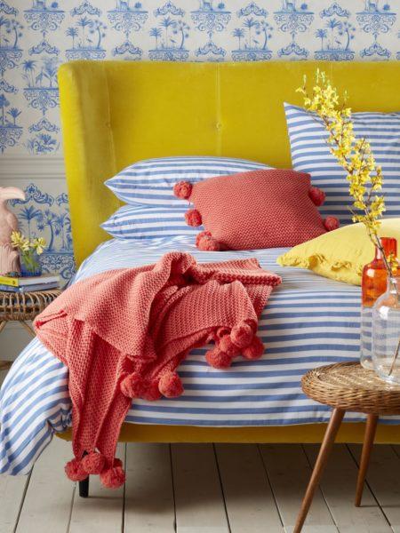 Sophie Stripe Dazzling Blue Duvet Cover