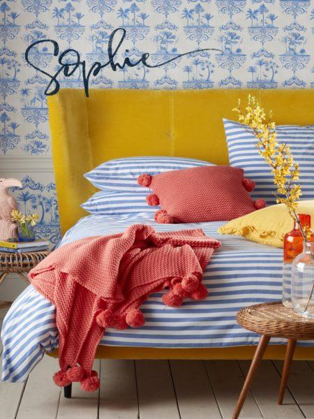 Sophie Stripe Dazzling Blue Bed Linen