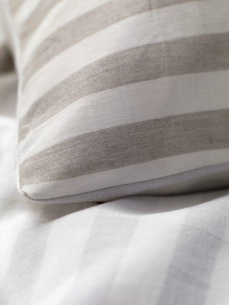 Coastal Stripe Natural Linen Duvet Cover