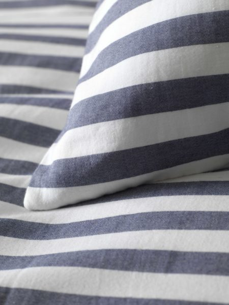 Coastal Stripe Navy Pillowcase