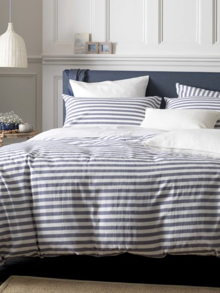 Coastal Stripe Navy Duvet Cover