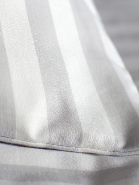Coastal Stripe Pebble Grey Pillowcase