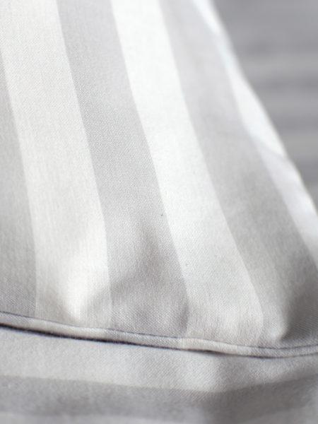 Coastal Stripe Pebble Grey Pillowcase