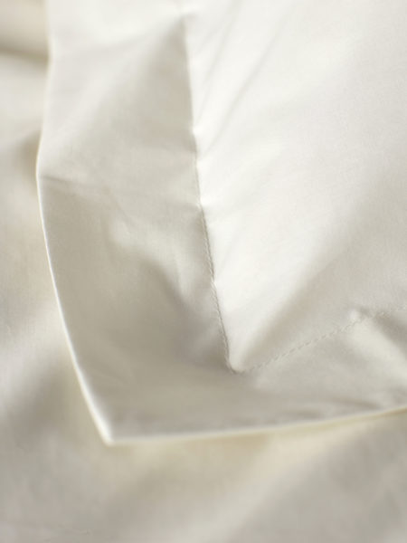 Cream Cotton Percale 200 Thread Count Housewife Pillowcase