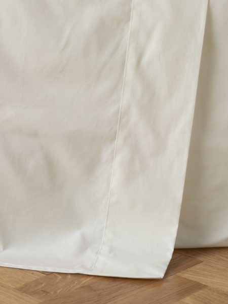 Cream Cotton Percale 200 Thread Count Flat Sheet