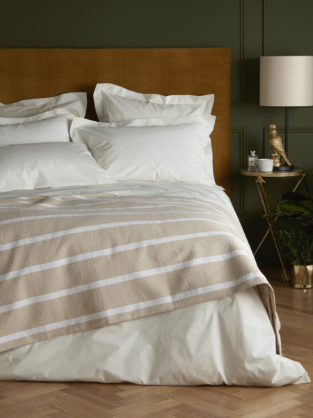 Cream Cotton Percale 200 Thread Count Duvet Cover