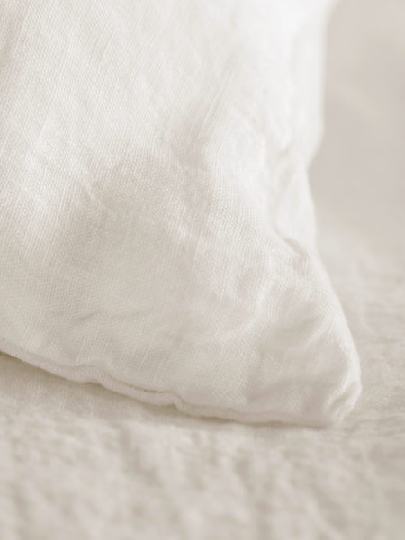 Cream 100% Linen Pillowcase