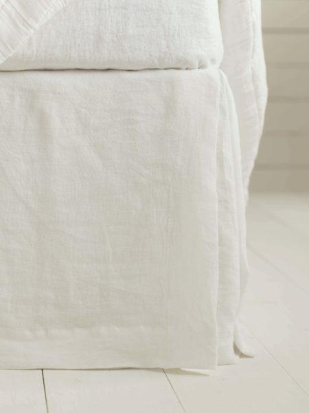 Cream 100% Linen Valance