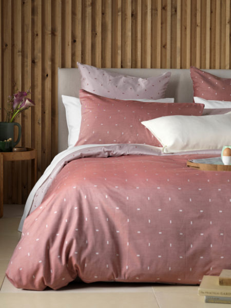 Dashes Red Bed Linen