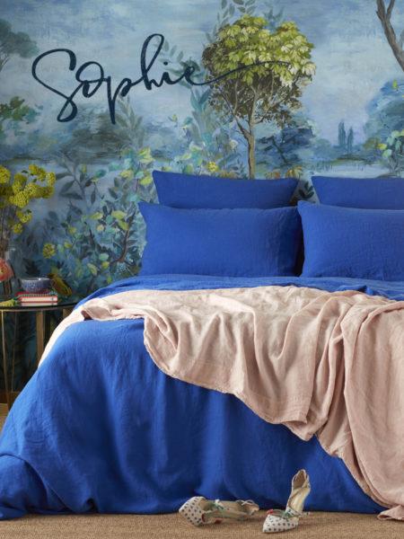 Dazzling Blue 100% Linen Bed Linen