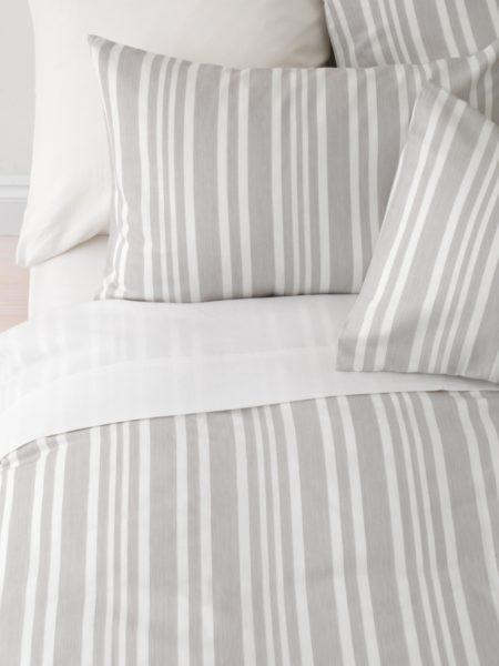 Denim Stripe Dove Grey Duvet Cover