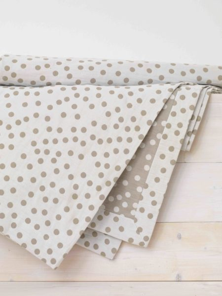 Dotty Coffee Cream Throw