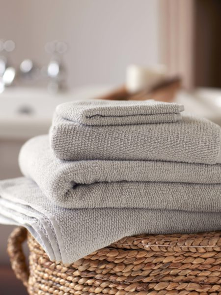 Dove Grey Cotton Towels