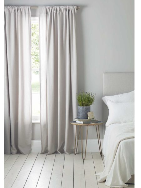 Relaxed Denim Dove Grey Loop Top Curtains (Pair)