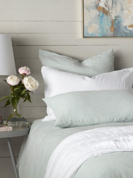 Duck Egg 100% Linen Housewife Pillowcase