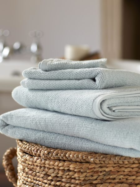 Duck Egg Cotton Towels