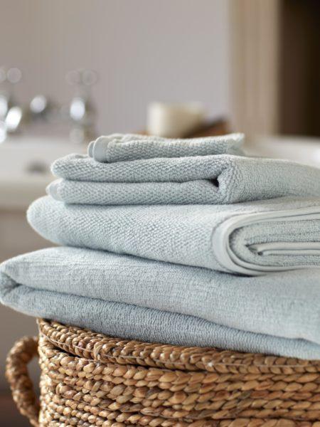 Duck Egg Cotton Towels