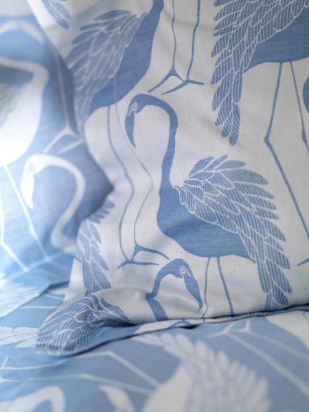 Flamingos Blue Duvet Cover