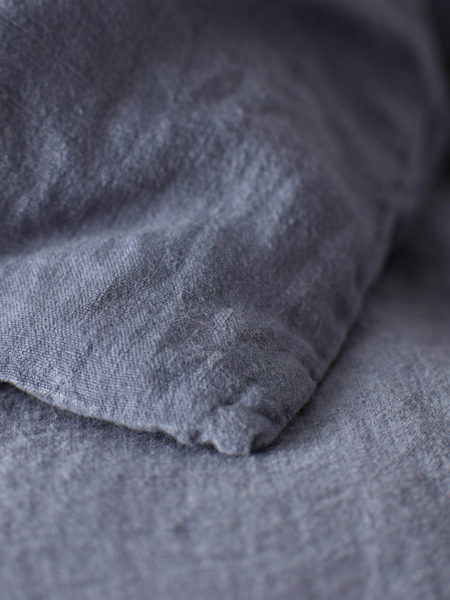 French Blue 100% Linen Pillowcase