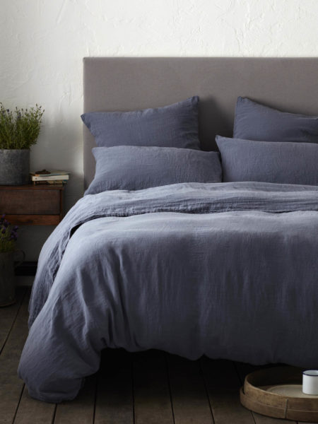 French Blue 100% Linen Bed Linen