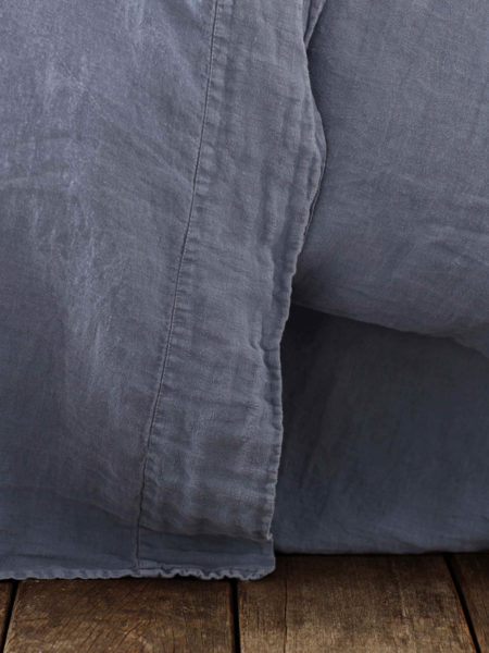 French Blue 100% Linen Flat Sheet