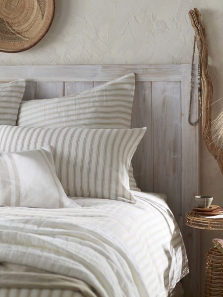 French Ticking Stripe Natural Pillowcase
