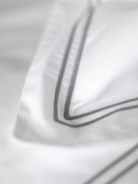 Grey Cord 400 Thread Count Pillowcase
