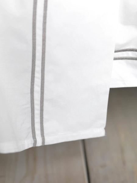 Grey Cord 400 Thread Count Flat Sheet