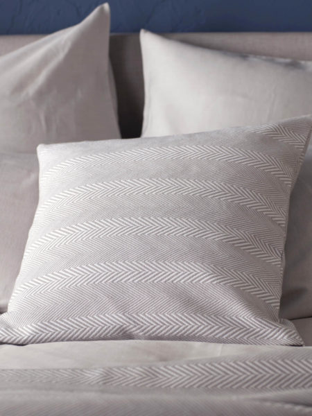 Herringbone Dove Grey Cushion Cover