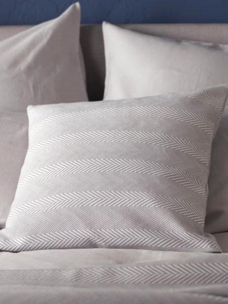 Herringbone Dove Grey Cushion Cover