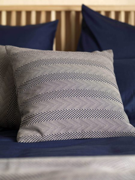Herringbone Midnight Blue Cushion