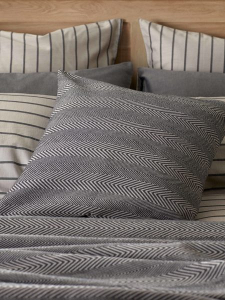 Herringbone Pewter Grey Cushion Cover