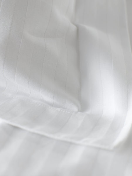 Hotel Stripe White Bed Linen
