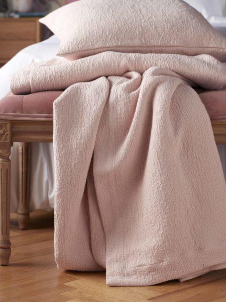 Tiny Stripe Blush Pink Pillowcase